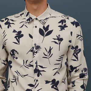 Slim Fit Floral Viscose Shirt